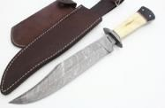 Damascus Bowie w/ Fire Piston Set